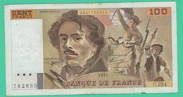 100 Francs  - Delacroix -  France -  N°.C.234/782838 - 1993 - TTB - - 1962-1997 ''Francs''