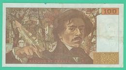 100 Francs  - Delacroix -  France -  N°.o.37/755832  - 1993 - TTB - - 1962-1997 ''Francs''