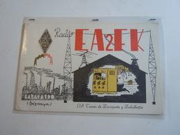 Cartolina Postale  QSL 1959 EA 2 FK SPAGNA - Radio