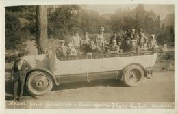 BELLE CARTE PHOTO AUTOCAR GARAGE DIDELIN  - VOITURE - EXCURSION - LOURDES - DEPART POUR GAVARNIE - Buses & Coaches