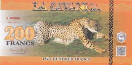LA SAVANNA 200 FRANCS 2015 PRIVATE ISSUE - Banknotes