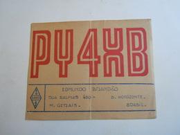 Cartolina Postale  QSL 1949  PY 4 XB BRASIL - Radio