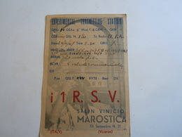 Cartolina Postale  QSL 1947 I 1R S V VICENZA - Radio