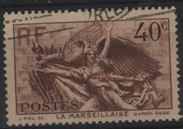 FR 1372 - FRANCE N° 315 Obl. La Marseillaise De Rude - Oblitérés