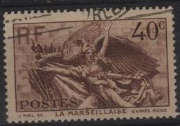 FR 1372 - FRANCE N° 315 Obl. La Marseillaise De Rude - France