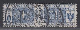 ITALIA - Pacchi Postali (Parcels) Sassone 8 - Cat. 30 Euro - Usato. Used. Luxus Gestempelt - Postal Parcels