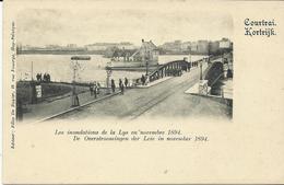 Kortrijk De Overstroomingen Der Leie In November 1894  (4045) - Kortrijk