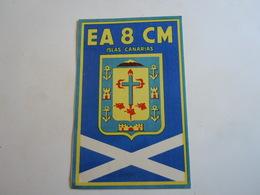 Cartolina Postale  QSL 1959 EA 8 CM CANARIE  SPAGNA - Radio