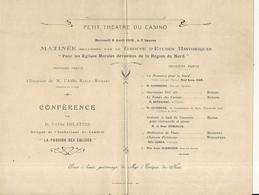 NICE . PETIT THEATRE CASINO  .CONFERENCE . 1919 - Documenti Storici
