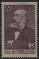 FR 1377 - FRANCE N° 378 Neuf* Léon Gambetta - France