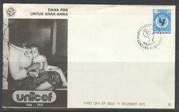 INDONESIA INDONESIË 1976 FDC E 32 UNICEF BLANK BLANCO - Indonesien