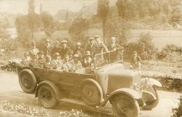 BELLE CARTE PHOTO AUTOCAR - CARS BIGOUDANS   - VOITURE - EXCURSION - LOURDES - DEPART POUR GAVARNIE - Buses & Coaches