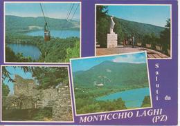 MONTICCHIO LAGHI - VEDUTINE MULTIVUES - FUNIVIA - STATUA - ANIMATA - VIAGGIATA - Other Cities