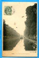 NY545, Lille, Le Canal Et Le Pont Napoléon, 65,péniche, Bateau, Circulée 1907 - Lille