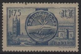 FR 1382 - FRANCE N° 400 Neuf* Visite Des Souverains Britanniques - France