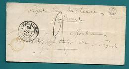 Boite Rurale E De PONTAVERT (Aisne). CàD Type 14 De BERRY AU BAC. Pour Les Forges De Hurteaux (Ardennes). 1849 - Marcofilia (sobres)