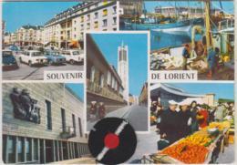 D56 - LORIENT - SOUVENIR DE LORIENT -Bachi En Feutre -Citroën DS-Peugeot 404- CPSM Multivues (5 Vues) Grand Format - Lorient
