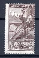 1923 - SAINT-MARIN - SAN MARINO - Catg. Unif. 89 - LH - (SM2017.9...) - Ongebruikt