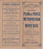 Collection De Cartes Blondel La Rougery Nouveau Plan De Paris Métro Offert Par La Ste Générale - Europe