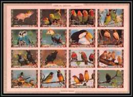 0120/ Umm Al Qiwain ** MNH Michel N° 1242 / 1257 Parrots And Finches Oiseaux (birds) Non Dentelé ** (imperforate) - Umm Al-Qiwain
