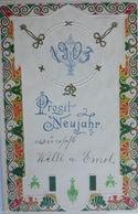 """ Neujahr, Biedermeier, Jahreszahl"" 1902, Prägekarte ♥ (5957) - Nieuwjaar"