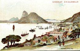 CARTE PUB CHOCOLAT D'AIGUEBELLE RIO DE JANEIRO - Publicité