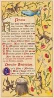 Curiosa Superbe Enluminure Religieuse Grotesque Miniature D'un Livre De Religion Ancien - Diable Enluminures Lettrine - Religion & Esotericism