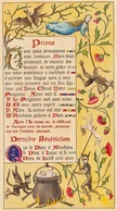 Curiosa Superbe Enluminure Religieuse Grotesque Miniature D'un Livre De Religion Ancien - Diable Enluminures Lettrine - Religion &  Esoterik