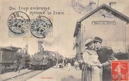 20-4483 : EDITION BERGERET EDITEUR A NANCY. QUI TROP EMBRASSE MANQUE LE TRAIN. - Cartes Postales
