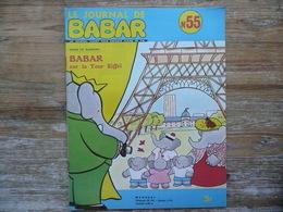 LE JOURNAL DE BABAR N 55  MENSUEL 1973   BABAR SUR LA TOUR EIFFEL - Livres, BD, Revues