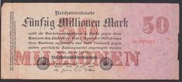 Reichsbanknote 50 Millionen Vom 1.9.23 - Rosenberg 97 Mit 7C Germany - [ 3] 1918-1933: Weimarrepubliek