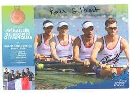 THIEBAULT COLARD - AVIRON..-- Signature...Autographe Véritable...(Rio 2016 - Médaillés De Bronze Olympiques) - Aviron