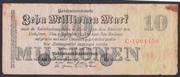Reichsbanknote 10 Millionen Vom 25.7.1923 - Rosenberg 95 Mit FZ: C - [ 3] 1918-1933: Weimarrepubliek