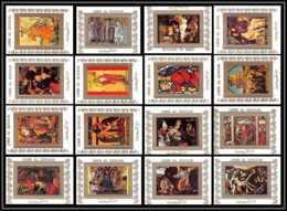 0046/ Umm Al Qiwain Deluxe Blocs ** MNH Michel N° 970 / 985 The Life Of The Christ Tableau (tableaux Painting) Tirage Bl - Umm Al-Qiwain