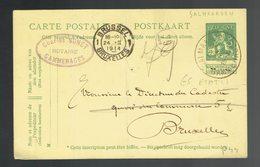 CP 44 De Sc Galmaarde / Gammerages 24 II 1914 => Bruxelles ( Cachet Privé Notaire Sohet )  ( à Voir ) - Entiers Postaux