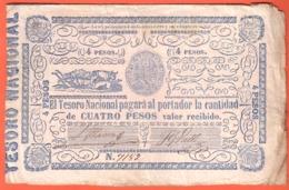 PARAGUAY - National Teasury 4 Pesos ( 1865 )  Pick 24 - Paraguay