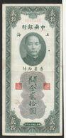 China 20 Gold Customs Units 1930 - Chine