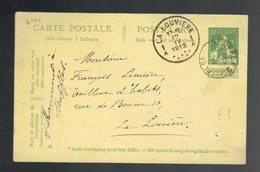 CP 44 De Sc Maffles 12 IV 1913 => La Louvière Trou D'archive - Entiers Postaux