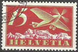 Schweiz Suisse 1923: Alpen-Flug / Avion Et Alpes Zu Flug 3 Mi 179 Yv PA 3 O GENÈVE SOCITÉ DES NATIONS (Zu CHF 14.00) - Usados