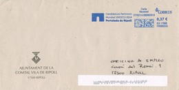 36202. Carta RIPOLL (Gerona) 2014. Franqueo Mecanico Azul  Portalada De Ripoll. UNESCO - 2011-... Brieven