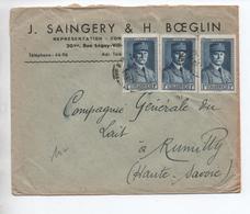 ALGERIE - ENVELOPPE COMMERCIALE Pour RUMILLY (HAUTE SAVOIE) - Algérie (1924-1962)