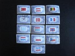 U.S.A. 1943-44 - Drapeaux Des Pays Occupés Par L'Axe - Y.T. 459/471 - Oblitéré - Used - Etats-Unis