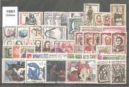 ANNEE Complète 1961 Oblitérée Sans Trace De Charnière Au Verso .44 Timbres Y&T N°1281 / 1324. + 2 Variétés.TB. - Frankreich