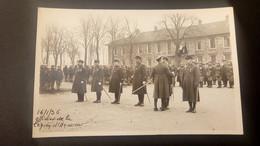 Carte Photo D'un Groupe De Militaires Décoré De La Légion D'Honneur (505° R.C.C ? Vannes - Le Havre ?) Le 16-01-1936 - Casernes