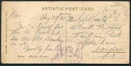 1918 GB Egypt Cairo Postcard - Sydenham London. Army Post Office SZ 51, Censor 1137 - 1902-1951 (Re)