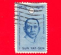 USA - US - STATI UNITI - Usato - 1961 - 50 Anni Della Repubblica Della Cina - Effige Di Sun Yat - 4 C - Stati Uniti