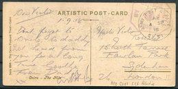 1918 GB Egypt Postcard - Sydenham London. Army Post Office SZ 51 Censor 1137 Palestine APO - 1902-1951 (Re)