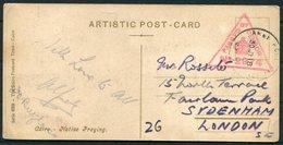 1918 GB Egypt Native Praying Postcard - Sydenham London. Army Post Office SZ Censor - 1902-1951 (Re)