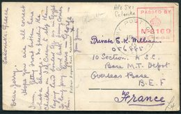 1915 GB Greece Salonika Postcard - B.E.F. France, Army Post Office, Censor. FPO APO - 1902-1951 (Re)