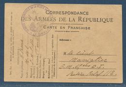 Guerre 14-18 : Cachet Vaguemestre Service Automobile De La Place De Toul / CP FM - Lettere In Franchigia Militare